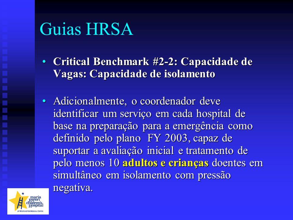Guias HRSA Critical Benchmark #2-2: Capacidade de Vagas: Capacidade de isolamentoCritical Benchmark #2-2: Capacidade de Vagas: Capacidade de isolament