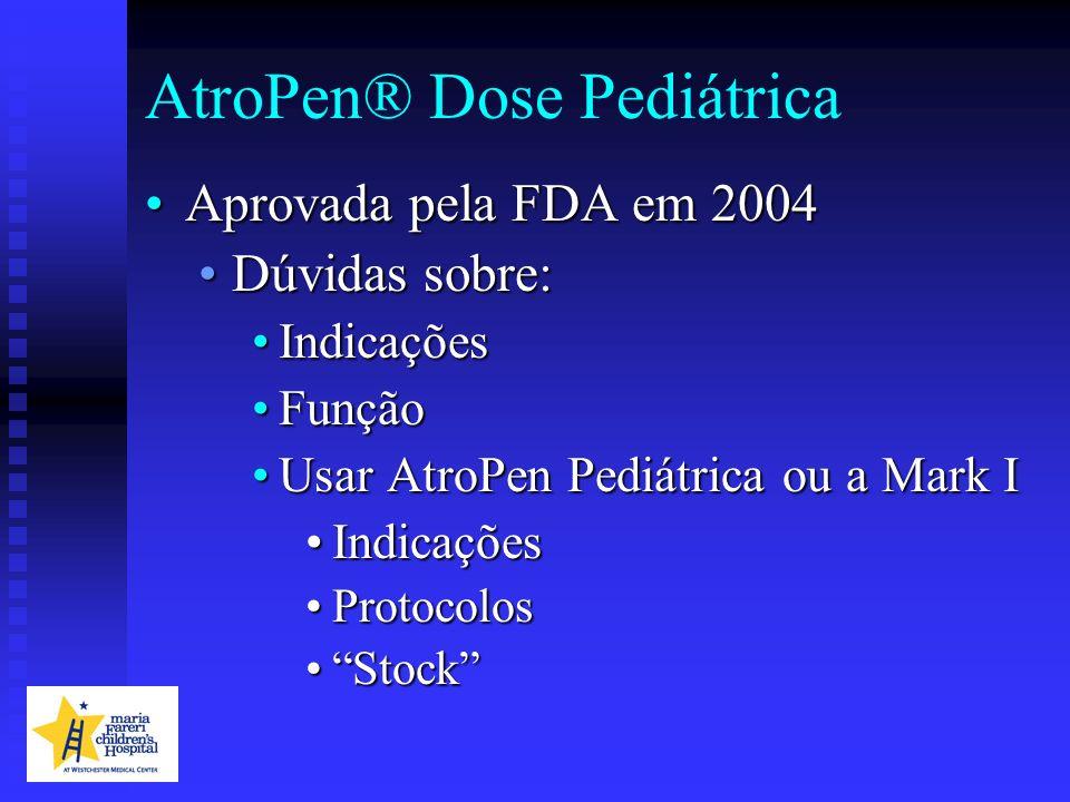 AtroPen® Dose Pediátrica Aprovada pela FDA em 2004Aprovada pela FDA em 2004 Dúvidas sobre:Dúvidas sobre: IndicaçõesIndicações FunçãoFunção Usar AtroPe
