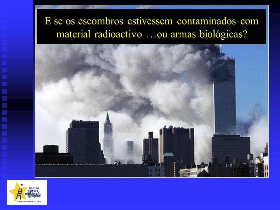 E se os escombros estivessem contaminados com material radioactivo …ou armas biológicas?