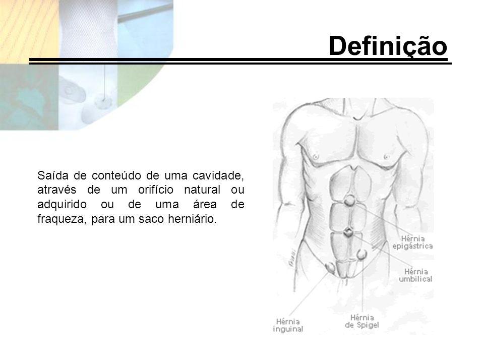 Saída de conteúdo de uma cavidade, através de um orifício natural ou adquirido ou de uma área de fraqueza, para um saco herniário. Definição