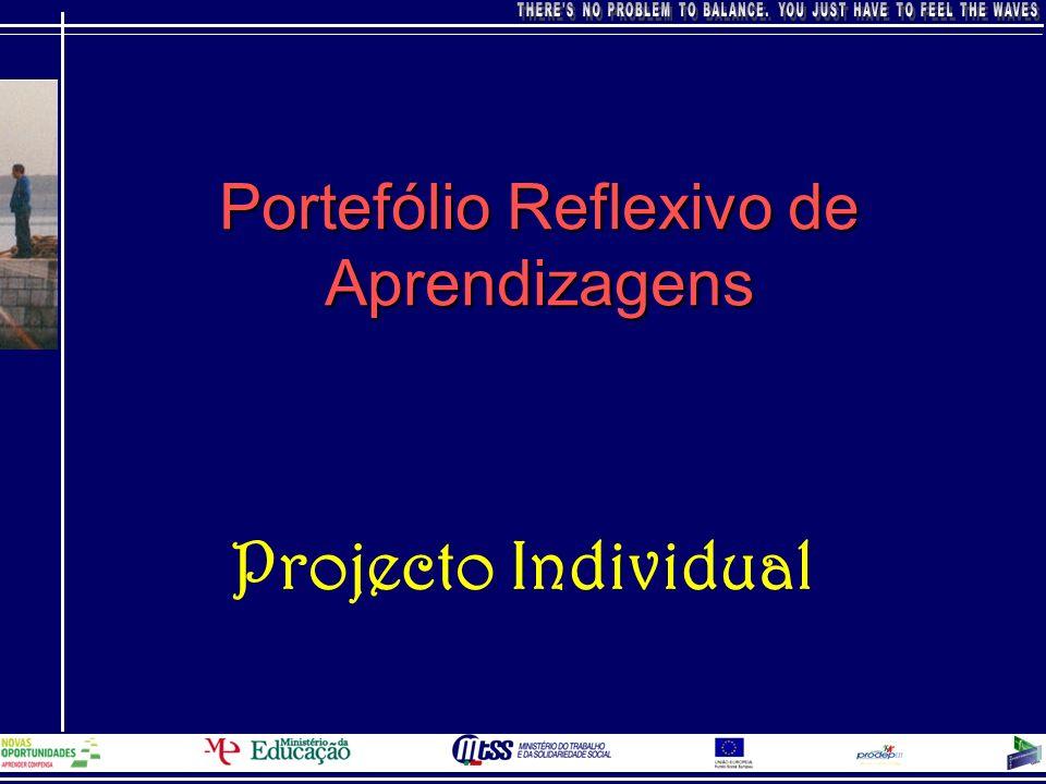 Portefólio Reflexivo de Aprendizagens Projecto Individual