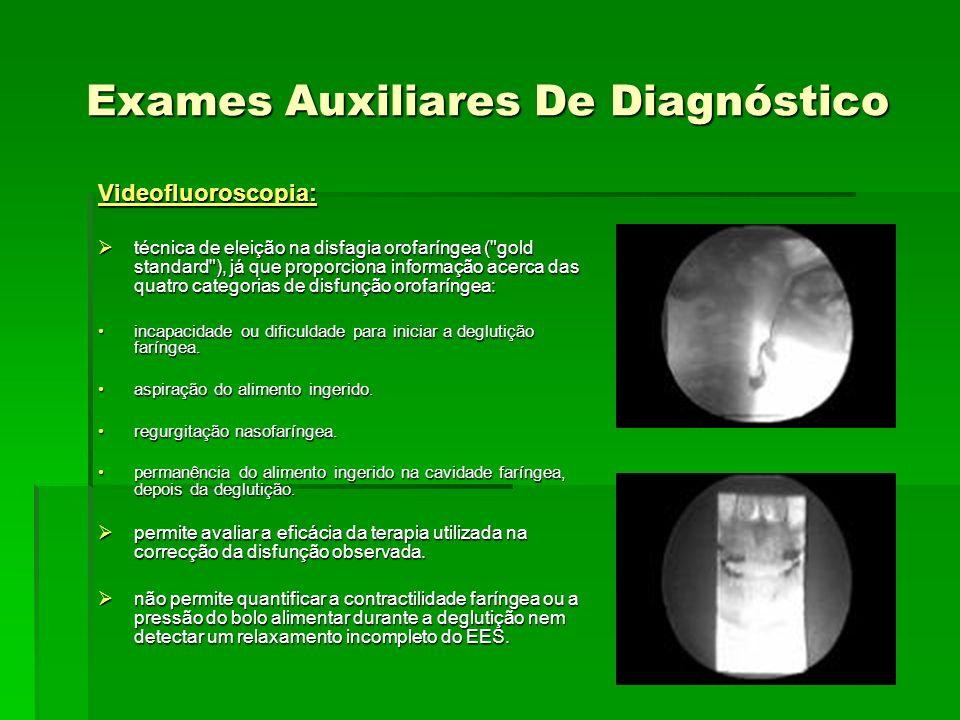 Exames Auxiliares De Diagnóstico Videofluoroscopia: técnica de eleição na disfagia orofaríngea (