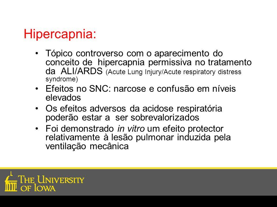 Hipercapnia: Tópico controverso com o aparecimento do conceito de hipercapnia permissiva no tratamento da ALI/ARDS (Acute Lung Injury/Acute respirator