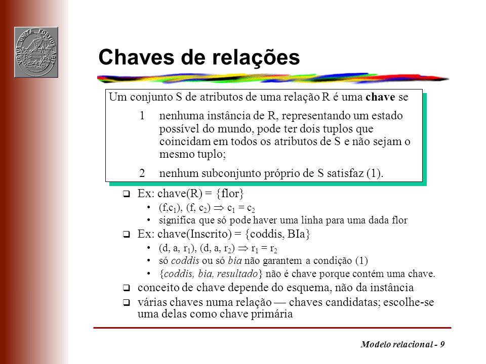 Modelo relacional - 20 Generalizações - 2
