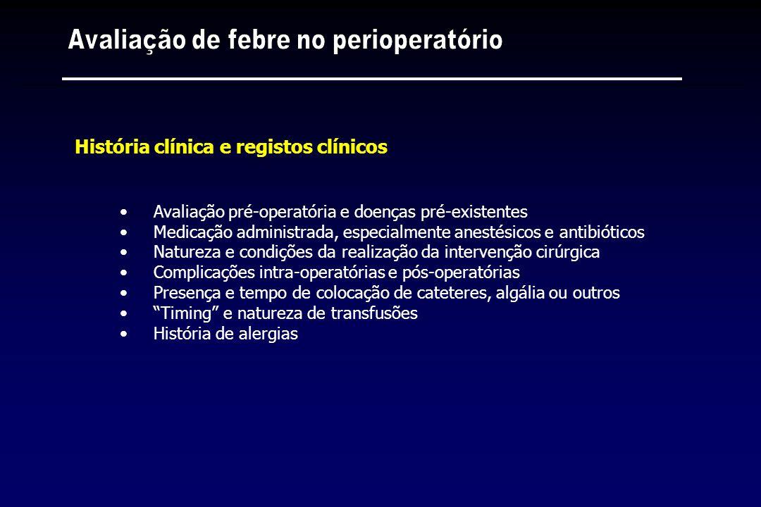 Avaliação pré-operatória e doenças pré-existentes Medicação administrada, especialmente anestésicos e antibióticos Natureza e condições da realização