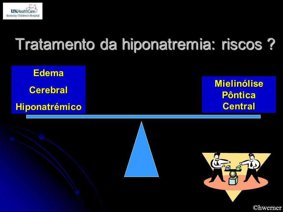 ©hwerner Tratamento da hiponatremia: riscos ? EdemaCerebralHiponatrémico Mielinólise Pôntica Central