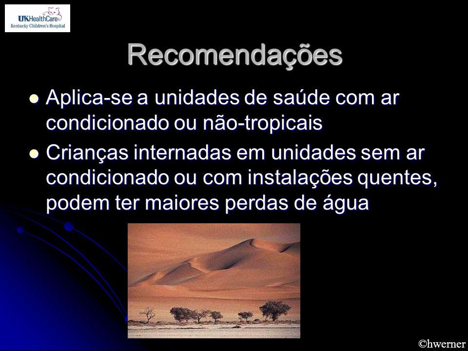 ©hwerner Recomendações Aplica-se a unidades de saúde com ar condicionado ou não-tropicais Aplica-se a unidades de saúde com ar condicionado ou não-tro