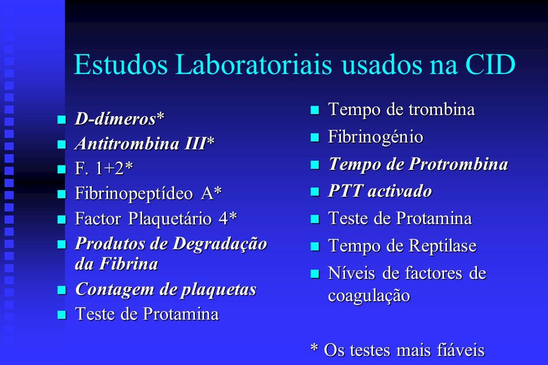 Achados Microscópicos na CID n Fragmentos n Esquizócitos n Plaquetas escassas