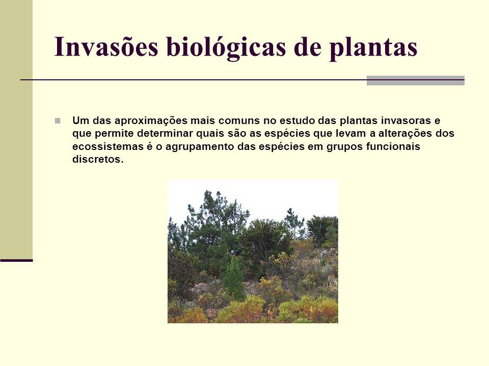 Um das aproximações mais comuns no estudo das plantas invasoras e que permite determinar quais são as espécies que levam a alterações dos ecossistemas