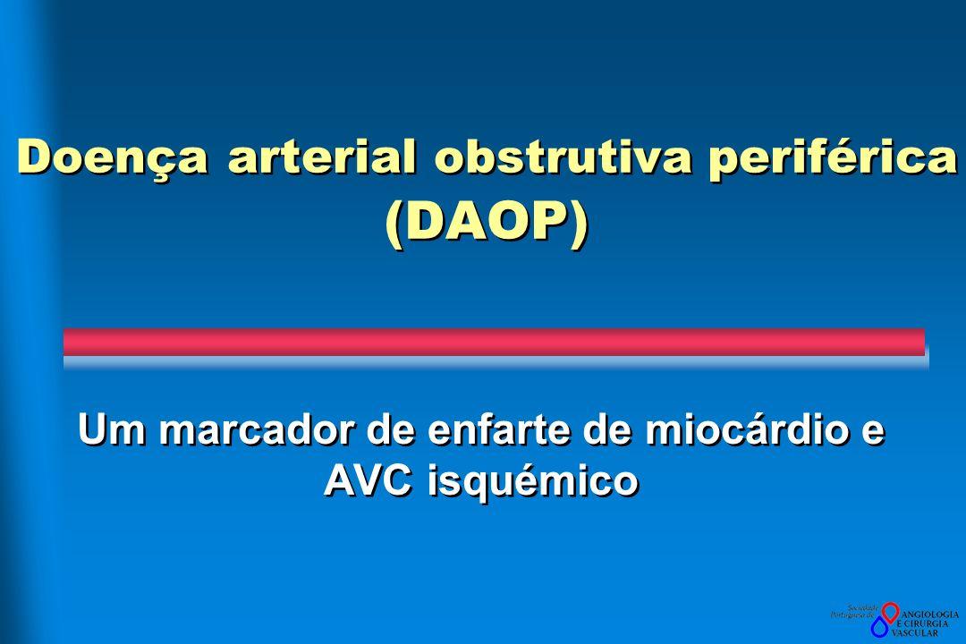 Doença arterial obstrutiva periférica (DAOP) Um marcador de enfarte de miocárdio e AVC isquémico