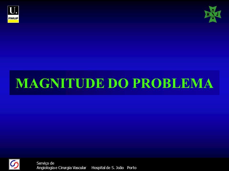 22 Serviço de Angiologia e Cirurgia Vascular Hospital de S. João Porto MAGNITUDE DO PROBLEMA