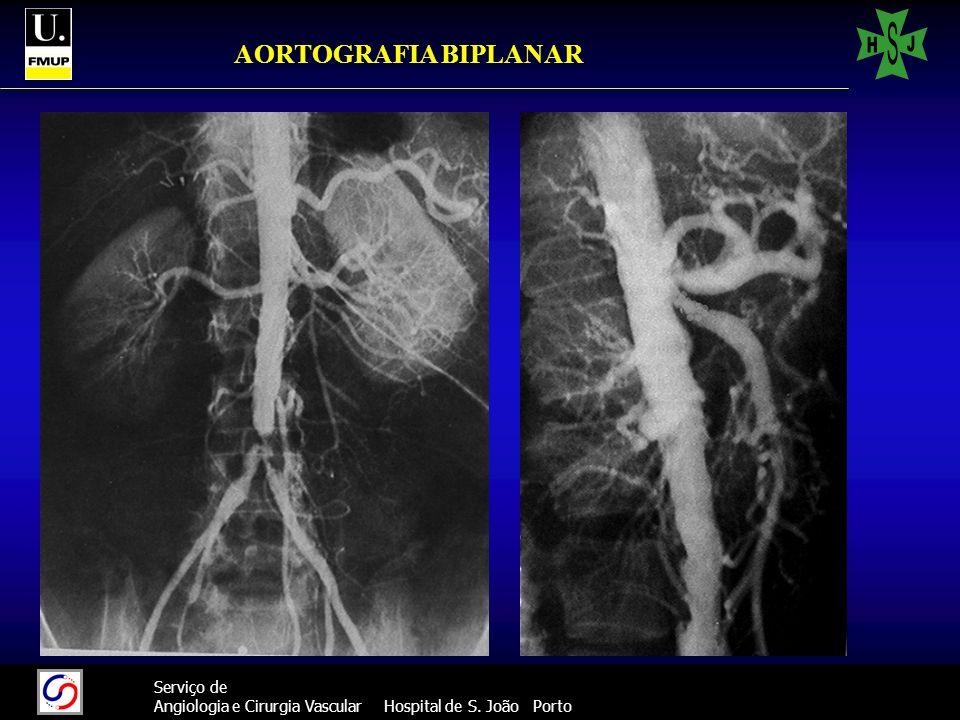 41 Serviço de Angiologia e Cirurgia Vascular Hospital de S. João Porto AORTOGRAFIA BIPLANAR