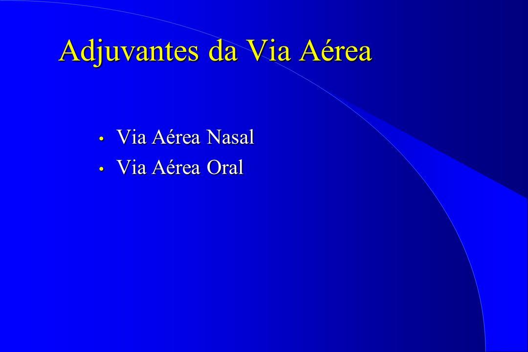 Adjuvantes da Via Aérea Via Aérea Nasal Via Aérea Nasal Via Aérea Oral Via Aérea Oral