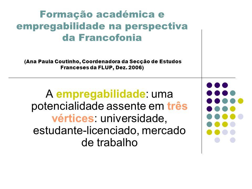 Formação académica e empregabilidade na perspectiva da Francofonia (Ana Paula Coutinho, Coordenadora da Secção de Estudos Franceses da FLUP, Dez.