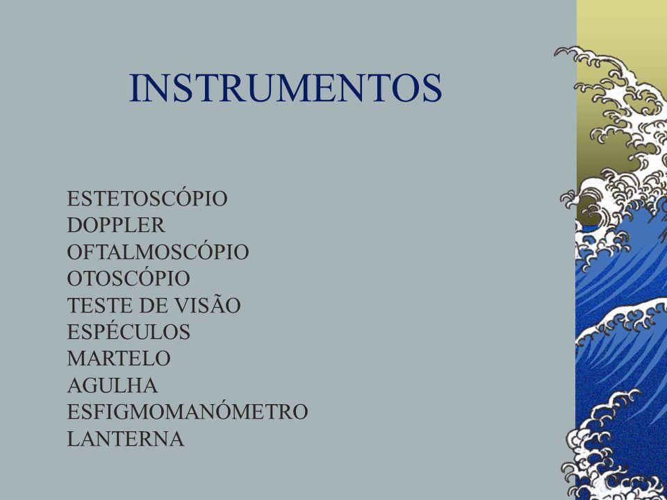 INSTRUMENTOS ESTETOSCÓPIO DOPPLER OFTALMOSCÓPIO OTOSCÓPIO TESTE DE VISÃO ESPÉCULOS MARTELO AGULHA ESFIGMOMANÓMETRO LANTERNA