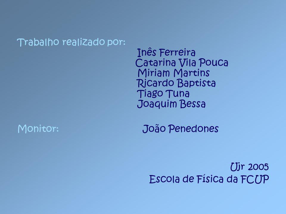 Trabalho realizado por: Inês Ferreira Catarina Vila Pouca Miriam Martins Ricardo Baptista Tiago Tuna Joaquim Bessa Monitor: João Penedones Ujr 2005 Es