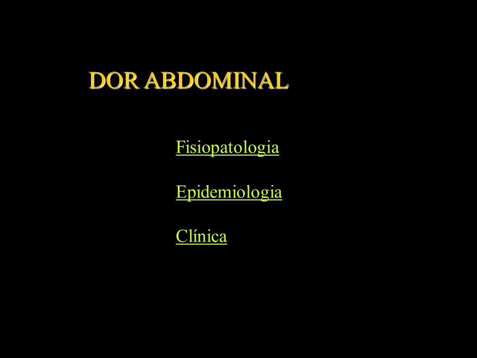Fisiopatologia da dor abdominal Receptores Vias de transmissão Estímulos nociceptivos