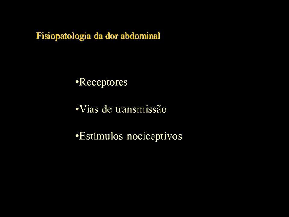 Epidemiologia da dor abdominal Epidemiologia da dor abdominal 2 a 3% na clínica geral 5 a 10% no Serviço de Urgência 1% das admissões