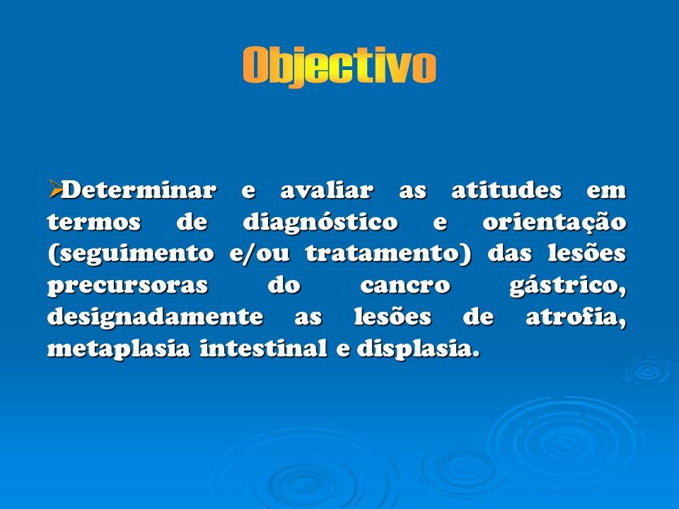 Estudo observacional População alvo: Médicos especialistas em gastroenterologia.