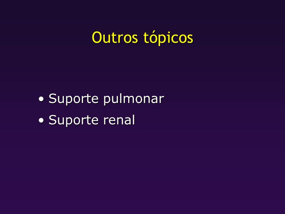 Outros tópicos Suporte pulmonarSuporte pulmonar Suporte renalSuporte renal