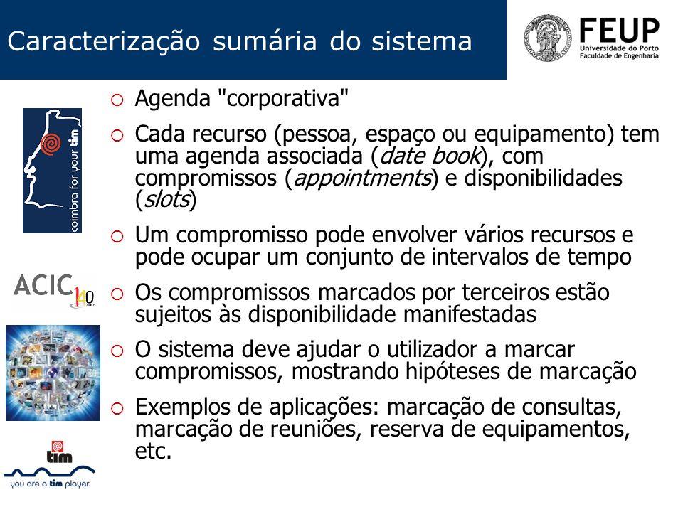 Caracterização sumária do sistema Agenda