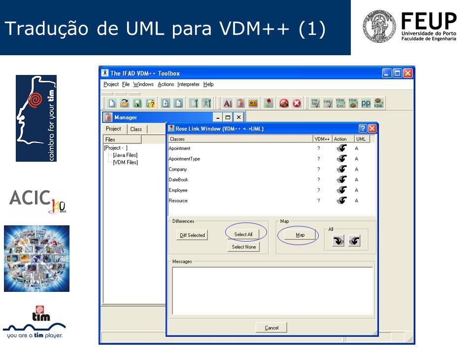 Tradução de UML para VDM++ (1)