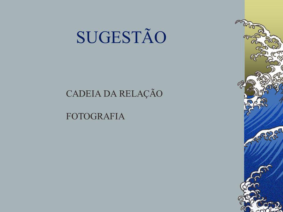 SUGESTÃO CADEIA DA RELAÇÃO FOTOGRAFIA