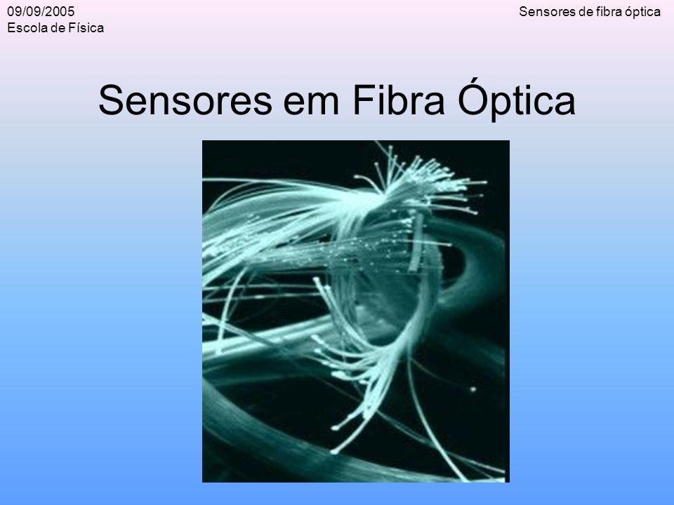 09/09/2005 Escola de Física Sensores de fibra óptica Índice O que é uma fibra.