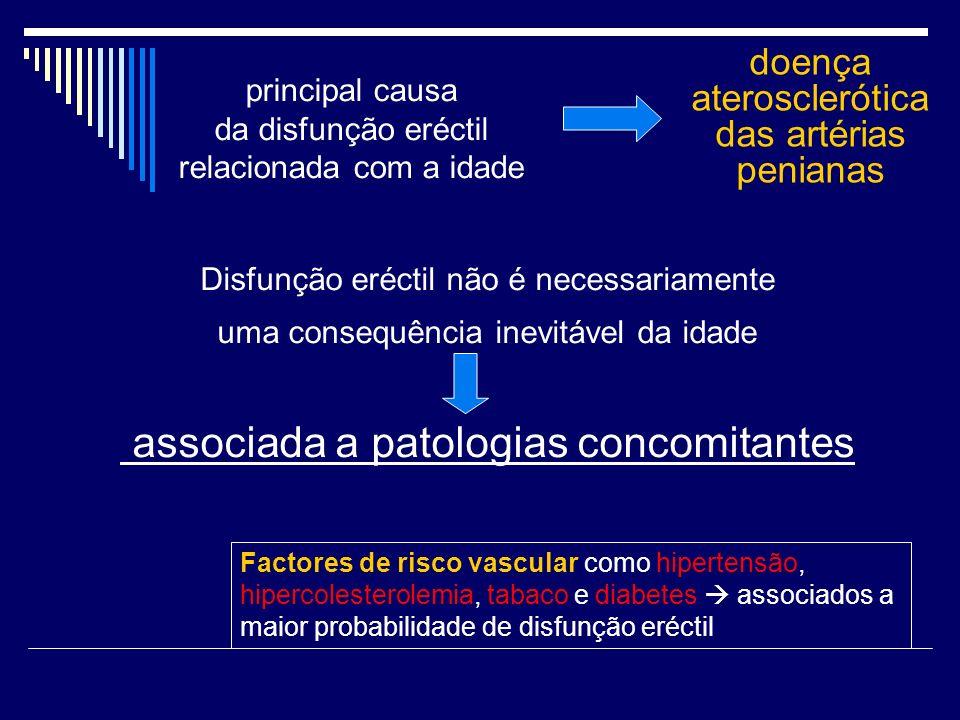 Disfunção eréctil não é necessariamente uma consequência inevitável da idade associada a patologias concomitantes principal causa da disfunção eréctil