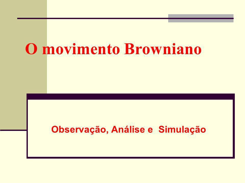 O movimento Browniano Observação, Análise e Simulação