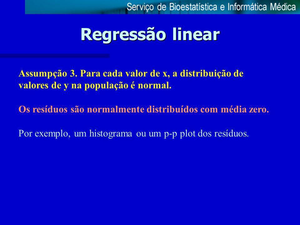 Regressão linear Assumpção 4.