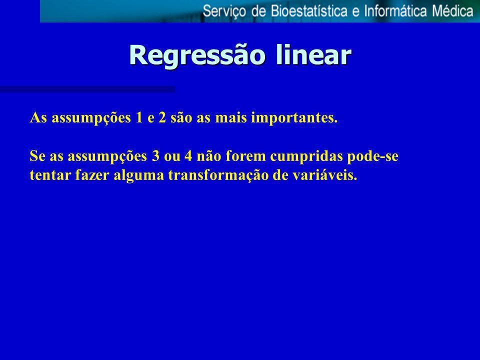 Regressão linear Fazer uma regressão linear 1.fazer um diagrama de dispersão entre x e y 2.