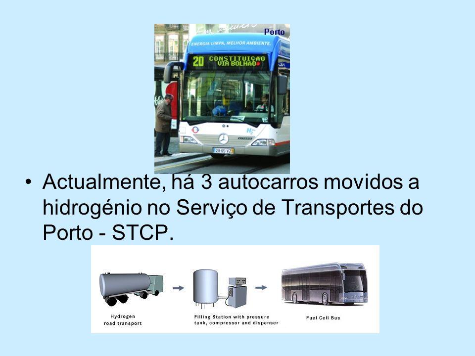 Actualmente, há 3 autocarros movidos a hidrogénio no Serviço de Transportes do Porto - STCP.