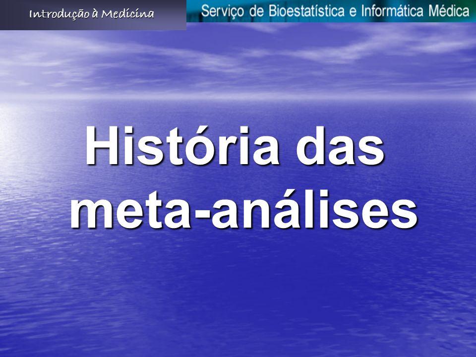 História das meta-análises Introdução à Medicina