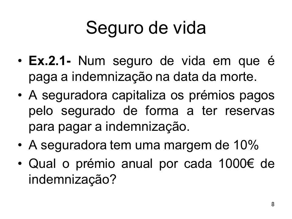 39 Probabilidade Opinião de peritos: Ex.2.4.