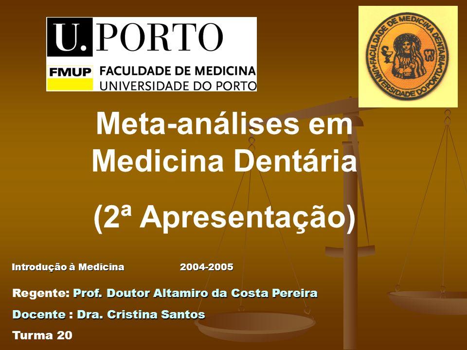 Introdução à Medicina2004-2005 Introdução à Medicina 2004-2005 Prof. Doutor Altamiro da Costa Pereira Regente: Prof. Doutor Altamiro da Costa Pereira