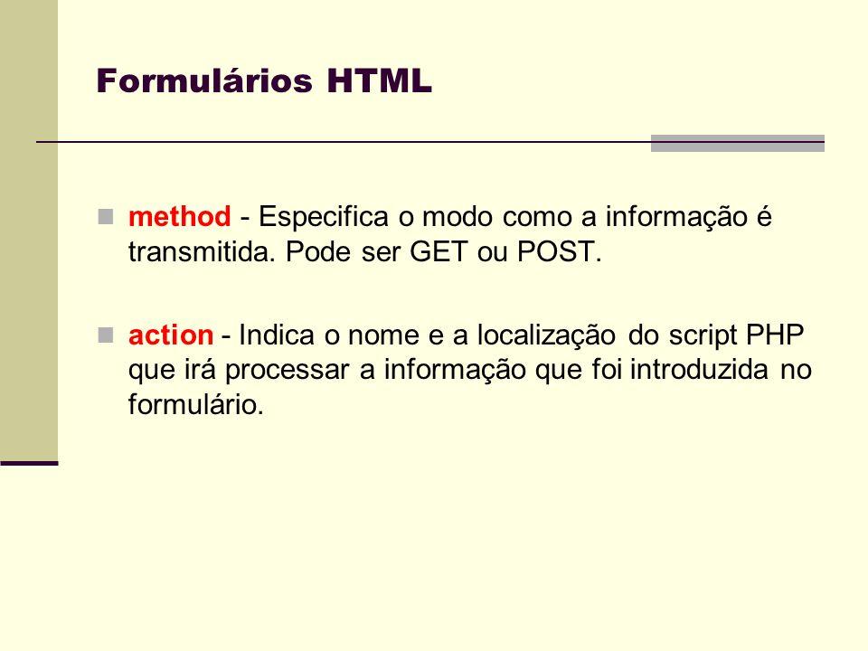 Métodos de transmissão O protocolo HTTP (HiperText Transfer Protocol) utiliza vários métodos de manipulação e organização dos dados.