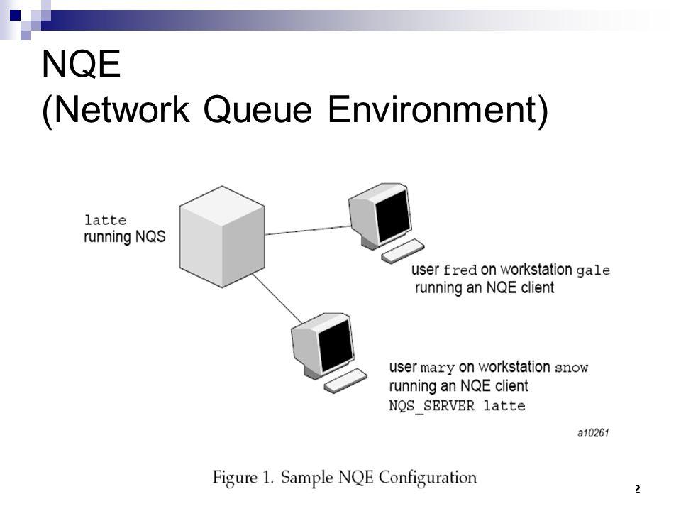 DCC/FCUP Grid Computing12 NQE (Network Queue Environment)