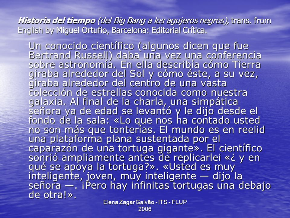 Elena Zagar Galvão - ITS - FLUP 2006 Roman Jakobson, 1959 all cognitive experience and its classification is conveyable in any existing language AND only poetry by definition is untranslatable WHY?