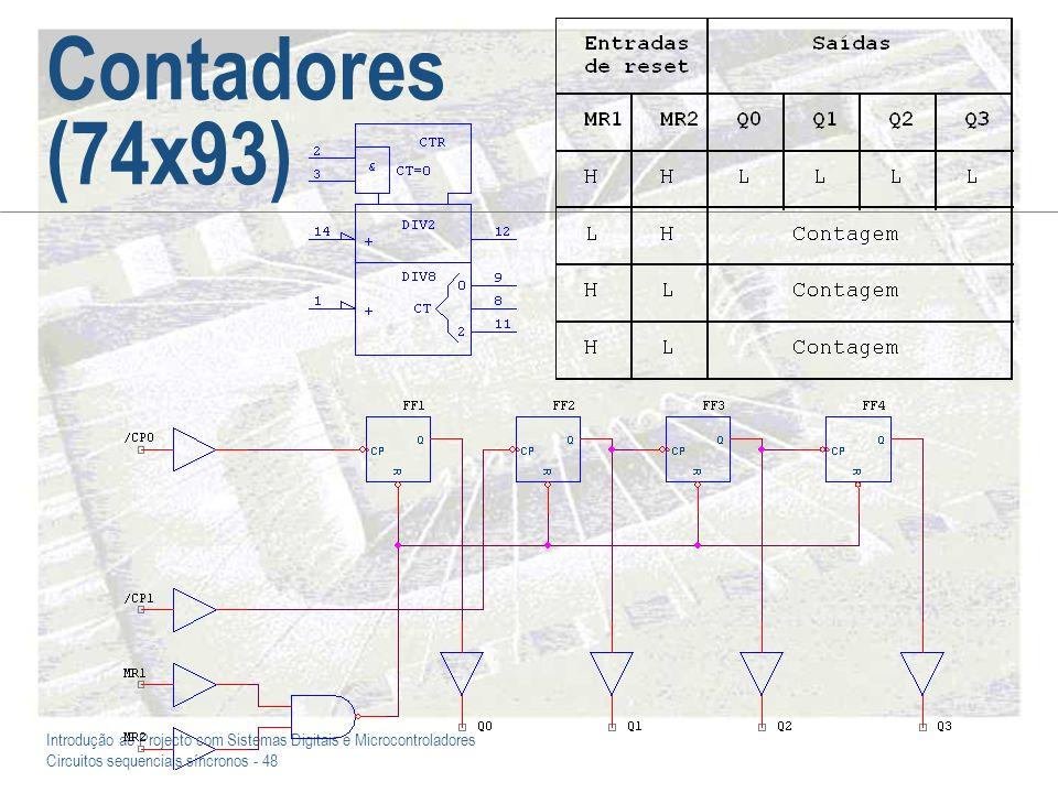 Introdução ao Projecto com Sistemas Digitais e Microcontroladores Circuitos sequenciais síncronos - 48 Contadores (74x93)