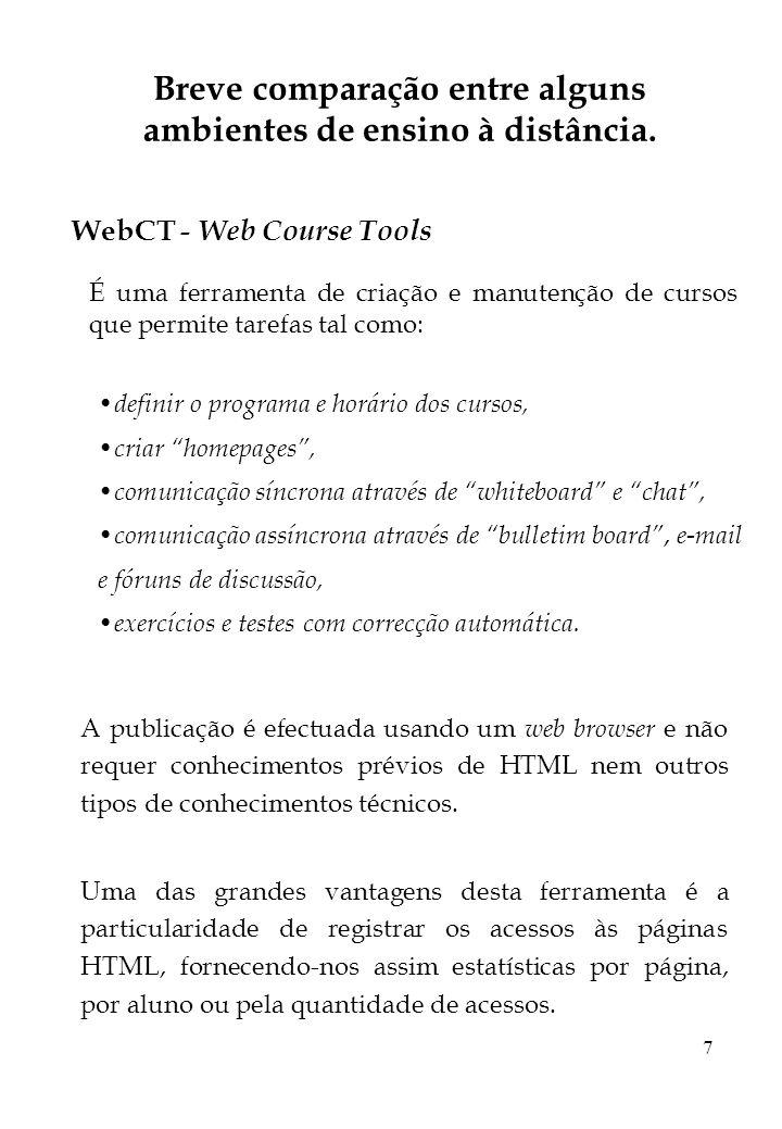 18 Proposta de plano de trabalhos para tese de mestrado (cont.) Temporização de tarefas