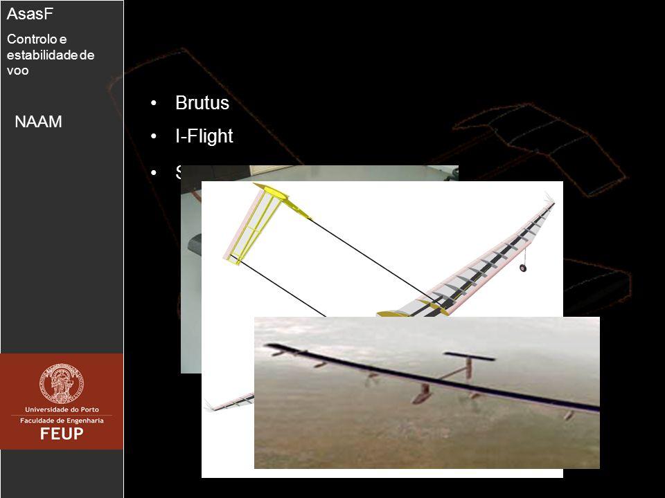 4 Modelo dinâmico AsasF Controlo e estabilidade de voo V,,, p, q, r,,,, x e, y e e H Ângulo de ataque Ângulo de deriva