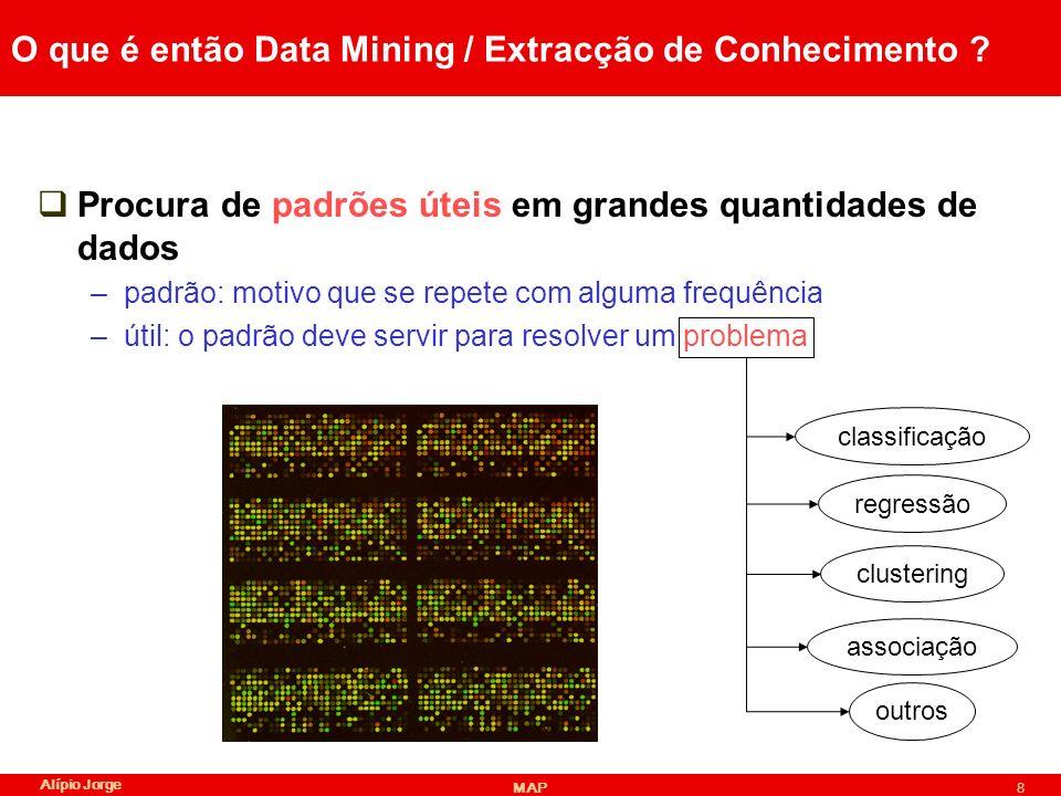 Alípio Jorge MAP59 Algoritmo de cobertura Resultado outlook=overcast-> play =yes (cob.