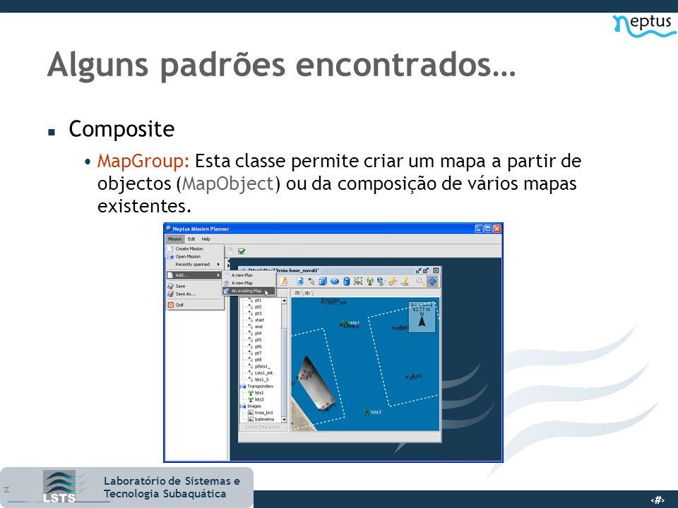 12 Laboratório de Sistemas e Tecnologia Subaquática Alguns padrões encontrados… n Composite MapGroup: Esta classe permite criar um mapa a partir de ob