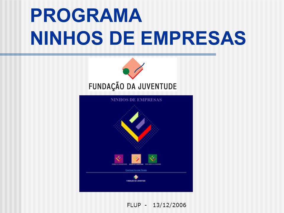 FLUP - 13/12/2006 Ninhos de Empresas Apresentado por Paulo Santos
