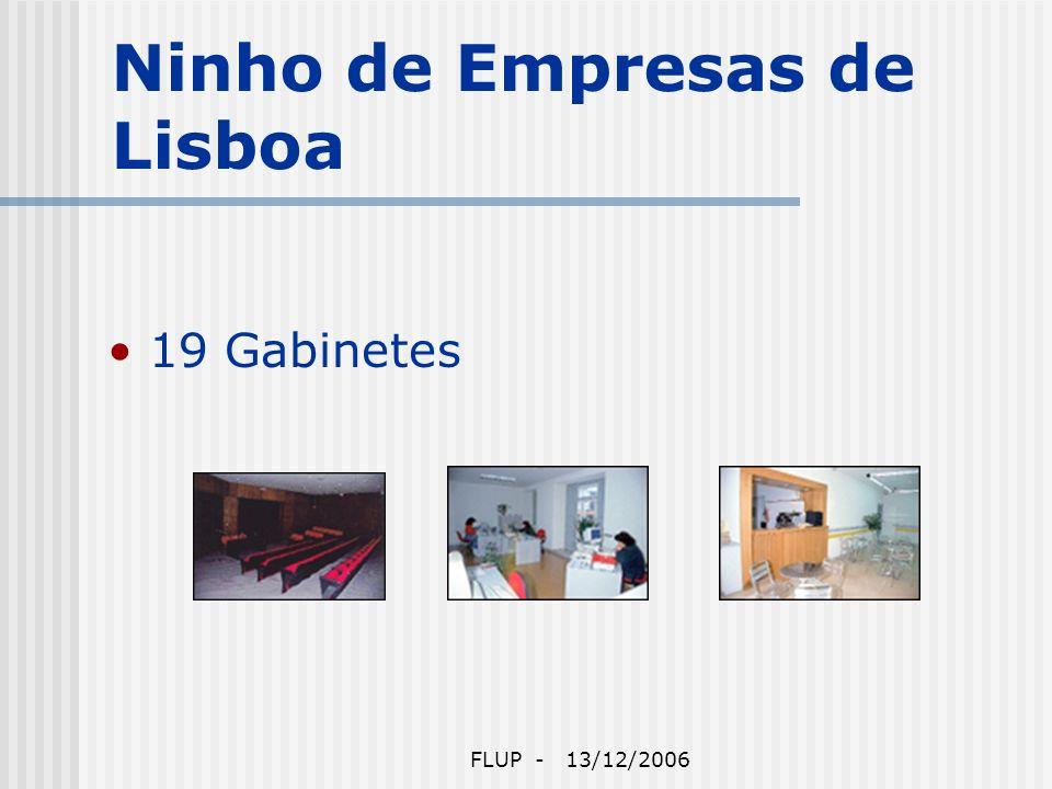 FLUP - 13/12/2006 Ninho de Empresas de Lisboa 19 Gabinetes