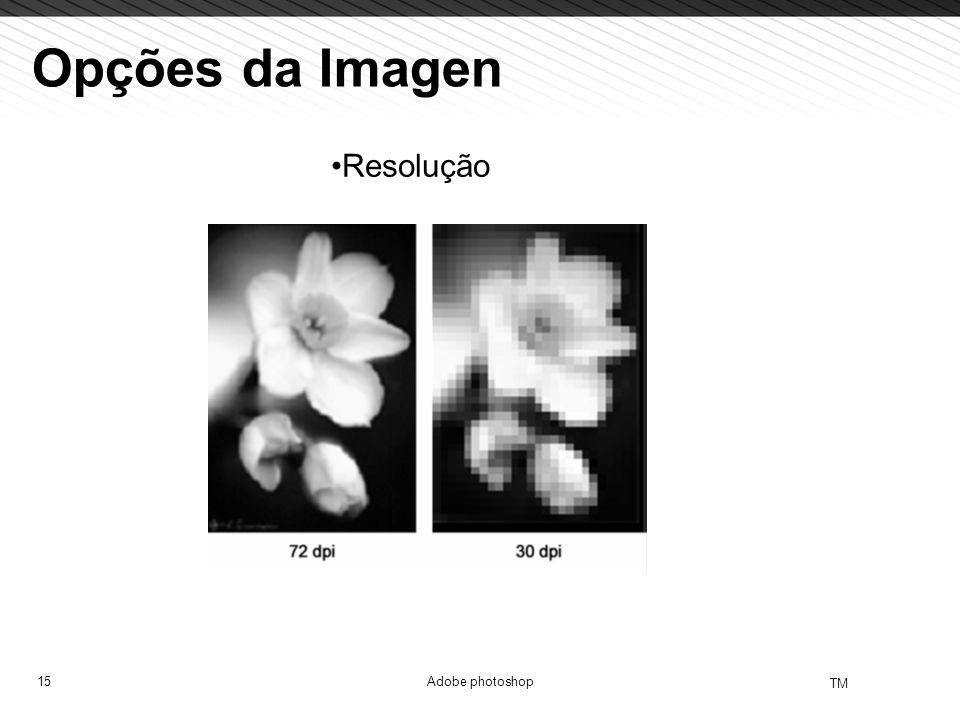 15 TM Adobe photoshop Opções da Imagen Resolução