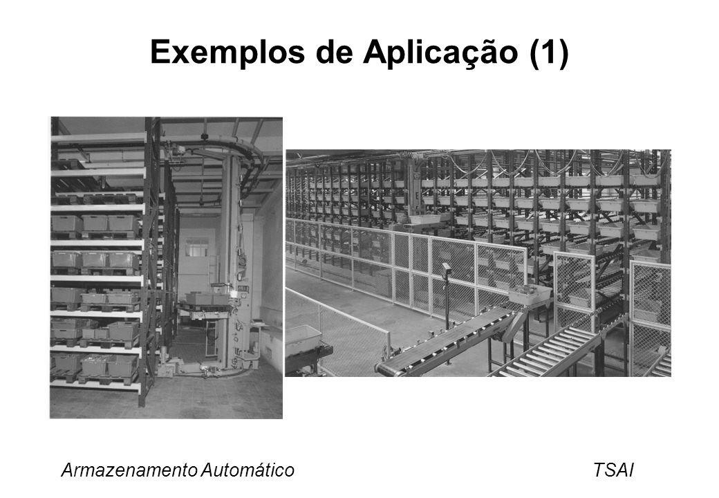 Armazenamento Automático TSAI Throughput do sistema e o número de transtocadores Factores que influenciam o throughput: –Velocidade dos transtocadores.