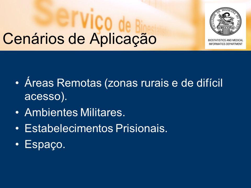 Cenários de Aplicação Áreas Remotas (zonas rurais e de difícil acesso).