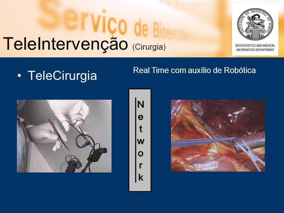TeleIntervenção (Cirurgia) TeleCirurgia Real Time com auxílio de Robótica
